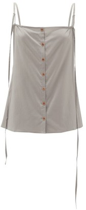 Lemaire Buttoned Silk-blend Cami Top - Grey