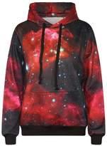 Imilan Sports Women Neon Galaxy Cosmic Hooded Sweatshirts Sweaters (Small/Medium, )