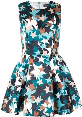 Elisabetta Franchi Star-Print Flared Mini Dress