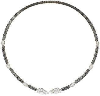 YEPREM 18kt White Gold Diamond Open Collar Necklace