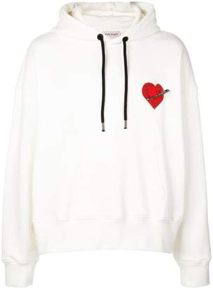 Palm Angels heart patch detail hoodie