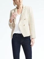 Banana Republic White Tweed Blazer