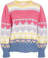 LoveShackFancy Shirelle Icing alpaca And Wool-Blend Pullover Sweater