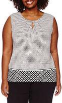 Liz Claiborne Sleeveless Keyhole Knit Top - Plus