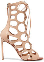 Francesco Russo Cutout Leather Sandals - Beige