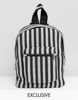 Reclaimed Vintage Inspired Backpack With Stripes