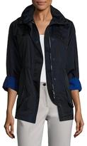 Armani Collezioni Hooded Snap Button Coat