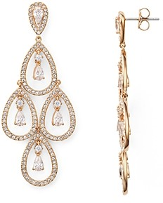 Nadri Pear Shaped Chandelier Earrings