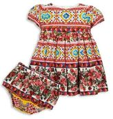 Dolce & Gabbana Baby's Two-Piece Rose Dress & Bloomers set