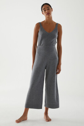 Cos Recycled Cashmere Wide-Leg Trousers