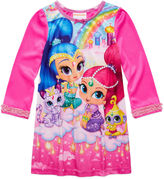 Asstd National Brand Shimmer and Shine Long-Sleeve Sleep Gown - Girls