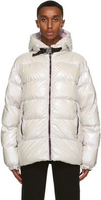 MONCLER GENIUS 6 Moncler 1017 ALYX 9SM Silver Down Iridescent Buckle Jacket