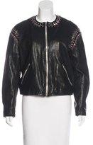 Etoile Isabel Marant Leather Embellished Jacket