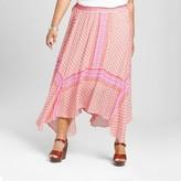 John Paul Richard JohnPaulRichard Women's Plus Size Printed Maxi Skirt Red