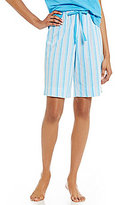 Karen Neuburger Striped Bermuda Sleep Shorts