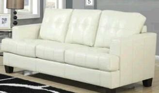 Red Barrel Studio Arine Sofa Bed Fabric: Faux Leather Cream