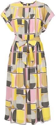 Rebecca Vallance Printed Silk Midi Dress