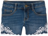 Crazy 8 Embroidered Jean Shorts