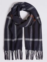 Marks and Spencer Windowpane Wider Width Woven Scarf