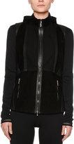 Callens Corsetry Leather/Suede Biker Vest, Black