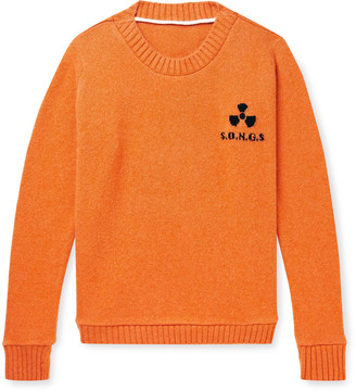 The Elder Statesman Total Meltdown Intarsia Cashmere Sweater - Men - Orange