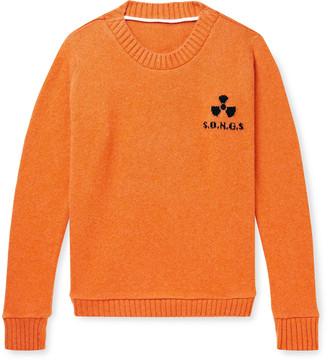 The Elder Statesman Total Meltdown Intarsia Cashmere Sweater