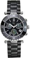 GUESS GUESS? GC G43001M2 38mm Ceramic Case Black Ceramic Mineral Men's Watch