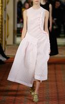 Simone Rocha Pink Asymmetrical Cloque Dress