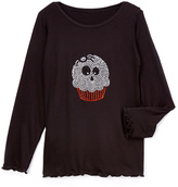 Beary Basics Black Skull Cupcake Tee - Toddler & Girls