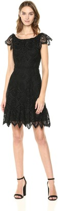 Shoshanna Women's Agustina Lace Fit and Flare Dress