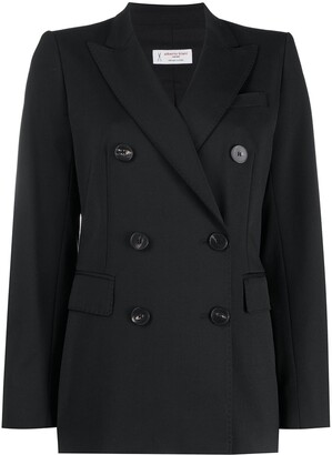 Alberto Biani Peak Lapel Double-Breasted Blazer