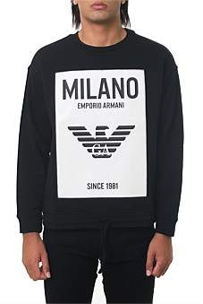 Emporio Armani Milano Sweatshirt In Stretch Cotton