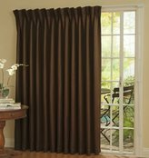 "Eclipse Curtains Eclipse Thermal Blackout Patio Door Curtain Panel, 100"" x 84"" Chocolate"