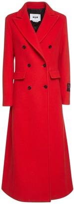 MSGM Wool Blend Double Breast Coat