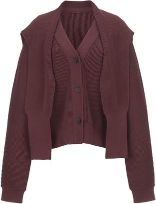 LE 17 SEPTEMBRE Le17 Septembre Oversized Draped Ribbed Cotton Cardigan
