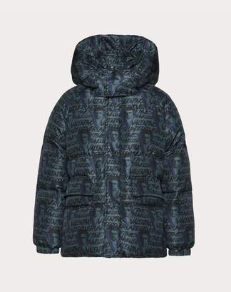 Valentino Down Coat With Vvv Print Man Lead 44