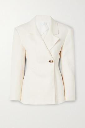 REJINA PYO Jodie Linen And Cotton-blend Blazer - Ivory