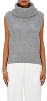 Barneys New York Women's Wool-Cashmere Turtleneck Vest-GREY
