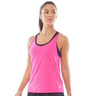 adidas Womens Advantage Tennis Tank Shock Pink