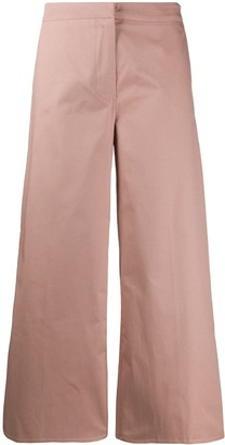 Danielapi Cropped Wide-Leg Trousers