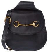 Gucci Black Leather Horsebit Backpack.