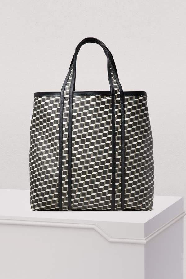 Pierre Hardy Canvas Cube Calfskin Tote