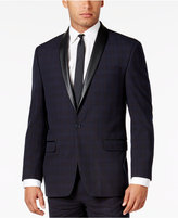 Sean John Men's Classic-Fit Blue Plaid Tuxedo Jacket