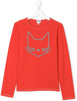 Karl Lagerfeld Teen cat print top