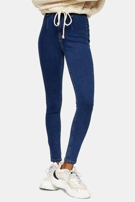 Topshop Womens Mid Blue Dart Joni Skinny Jeans - Mid Stone