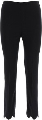 Miu Miu Scallop-Hem Tailored Trousers