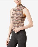 Kensie Sleeveless Chevron-Print Sweater