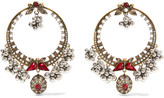 Alexander McQueen Gold-plated, Swarovski Crystal And Faux Pearl Earrings - one size