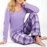 JCPenney adonna® Buffalo Check Flannel Pajama Pant