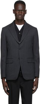 Comme des Garçons Homme Deux Grey Wool Twill Blazer